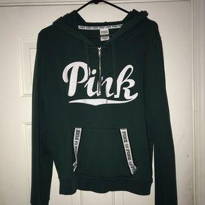 PINK green Pull Over Quarter Zip Sweatshirt
